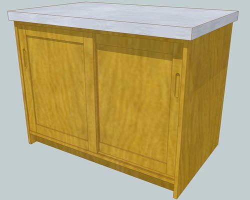 キッチンアイランド1100×7001部合板引き戸側.jpg