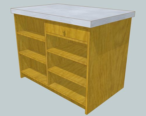 キッチンアイランド1100×7001部合板引出側.jpg